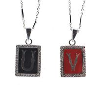 Initial pendant necklace - U to W