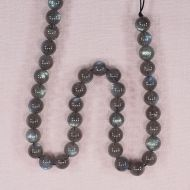 7 mm round labradorite beads