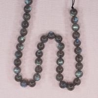 7 mm round labradorite beads