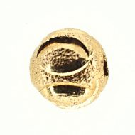 Gold-plate etched round beads