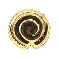 Flat 16 mm gold-plate spiral beads