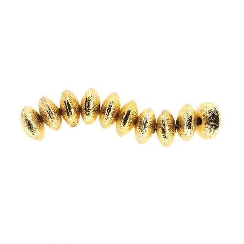 8 mm gold-plate rondelles