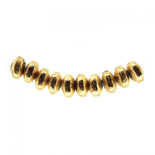 6 mm by 3 mm gold-plate rondelles