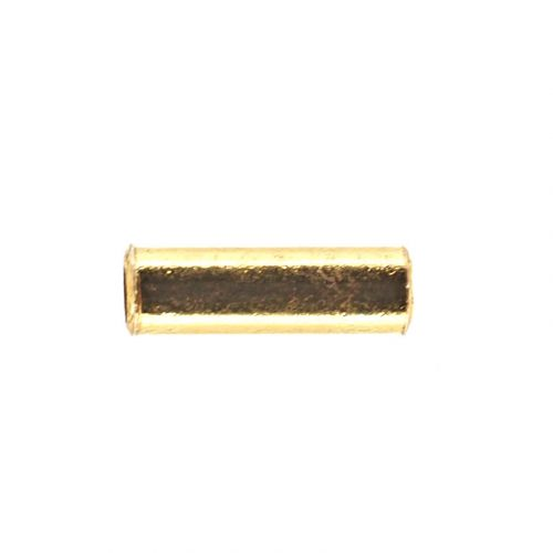 8 mm by 3 mm gold-plate tube beads