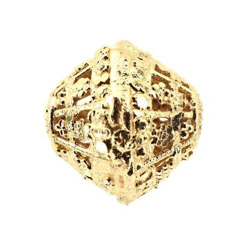 15 mm gold-plate filigree bead