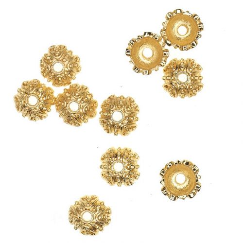Gold-plated bead caps