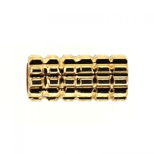7 mm gold-plated tube bead
