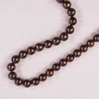 10 mm round dark copper colored pearls