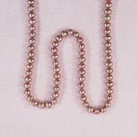 5 mm oval dark pink pearls