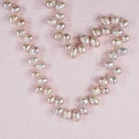 6 mm top-drilled oval pink pearls