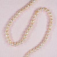 6 mm white potato pearls