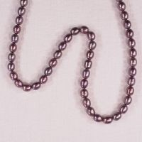 8 mm mauve rice pearls
