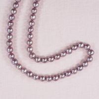 8 mm round mauve pearls