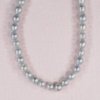 8 mm silver oval pearls