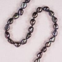 10 mm Baroque peacock pearls