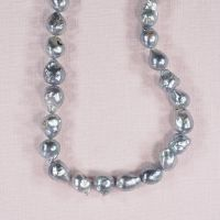 10 mm silver Baroque pearls