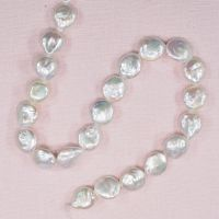 10 mm white coin pearls