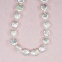 12 mm lustrous white coin pearls