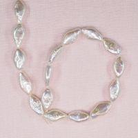 16 mm white diamond-shaped pearls