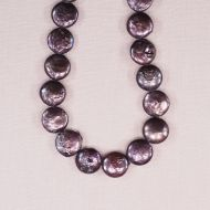10 mm mauve coin pearls