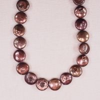 12 mm pinkish coin pearls