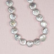 12 mm silver coin pearls