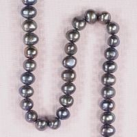 8 mm oval peacock pearls