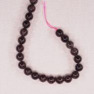 8 mm round garnet beads