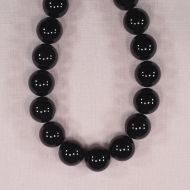 16 mm round black onyx beads