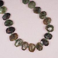 15 mm by 20 mm irregular rhyolite hexagon beads