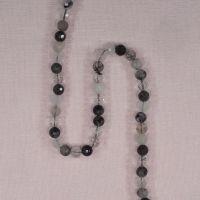 6.5 mm faceted rutilated quartz beads