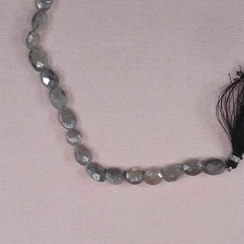 10 mm by 8 mm faceted Madagascar moonstone beads