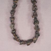 Carved jasper beads