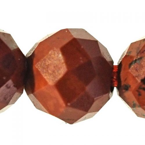 2 mm micro-faceted red jasper beads