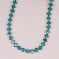 6 mm turquoise diamond beads