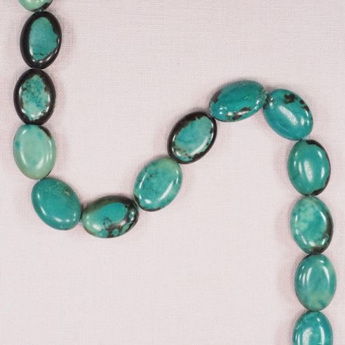 20 mm oval African turquoise beads