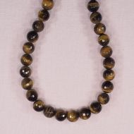 9 mm faceted tiger eye beads