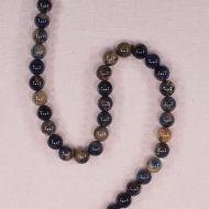 8 mm orange sodalite beads