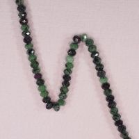 5 mm by 8 mm zoisite faceted rondelles