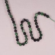 6 mm faceted round zoisite beads